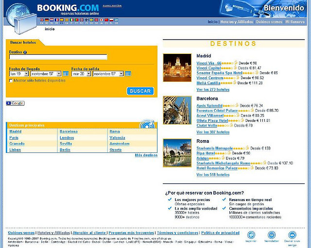 bookingcom-ON LINE TRAVEL AGENCIES