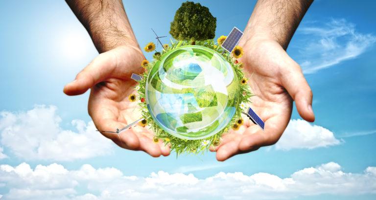 Green world concept-effetto serra