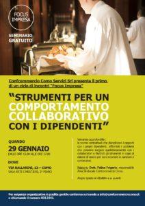 """""""Strumenti per un comportamento collaborativo con i dipendenti"""" - seminario @ Confcommercio Como"""