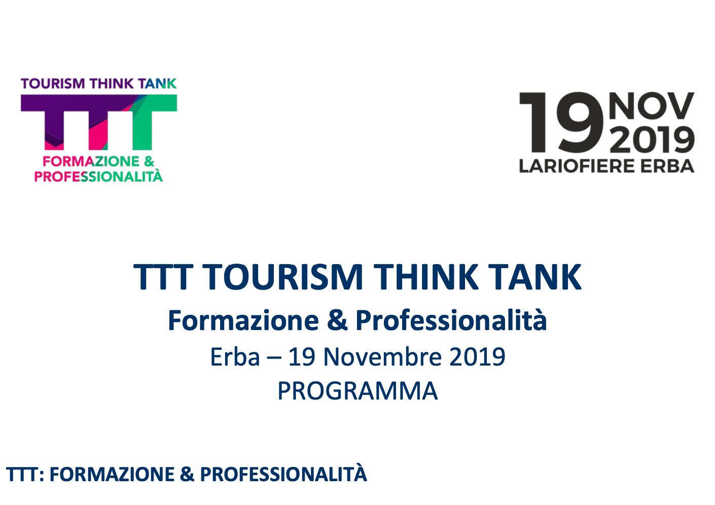 Giovani Imprenditori - Tourism Think Tank 2019